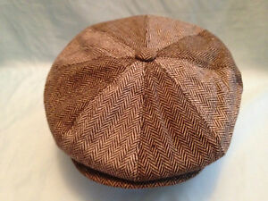 MENS-2-TONE-BROWN-BAKER-BOY-CAP-NEWSBOY-PAPERBOY-CABBY-GATSBY-8-PANEL-HAT