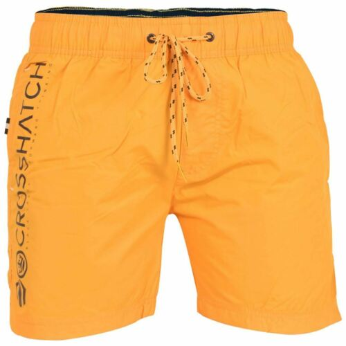 Crosshatch Swim Shorts For Men Printed Multi-Color Summer Beach Holiday Trunk
