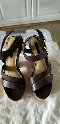 Women's Shoes Forceful Rachel Zoe Wedge Sharon Platform Sandals Size 6 M