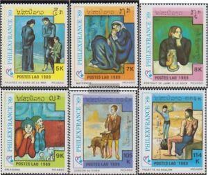 Laos-1162-1167-kompl-Ausg-postfrisch-1989-Briefmarkenausstellung