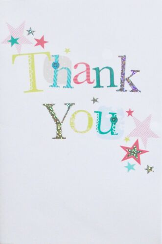 stars theme Thank you small greetings card blank suitable for male or female