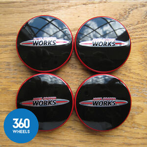 4 X New Genuine Original Mini Jcw Alloy Wheel Centre Caps