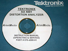 Tektronix Aa5001 Distortion Analyzer Instruction Service Amp Ops Manual