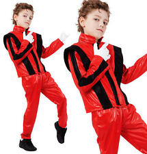 Childrens Kids Superstar Fancy Dress Costume Michael Jackson Thriller Outfit M