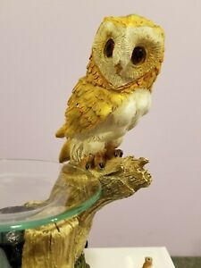 Owl Aroma Burner Wax Tart Scented Oil Candle Warmer ...
