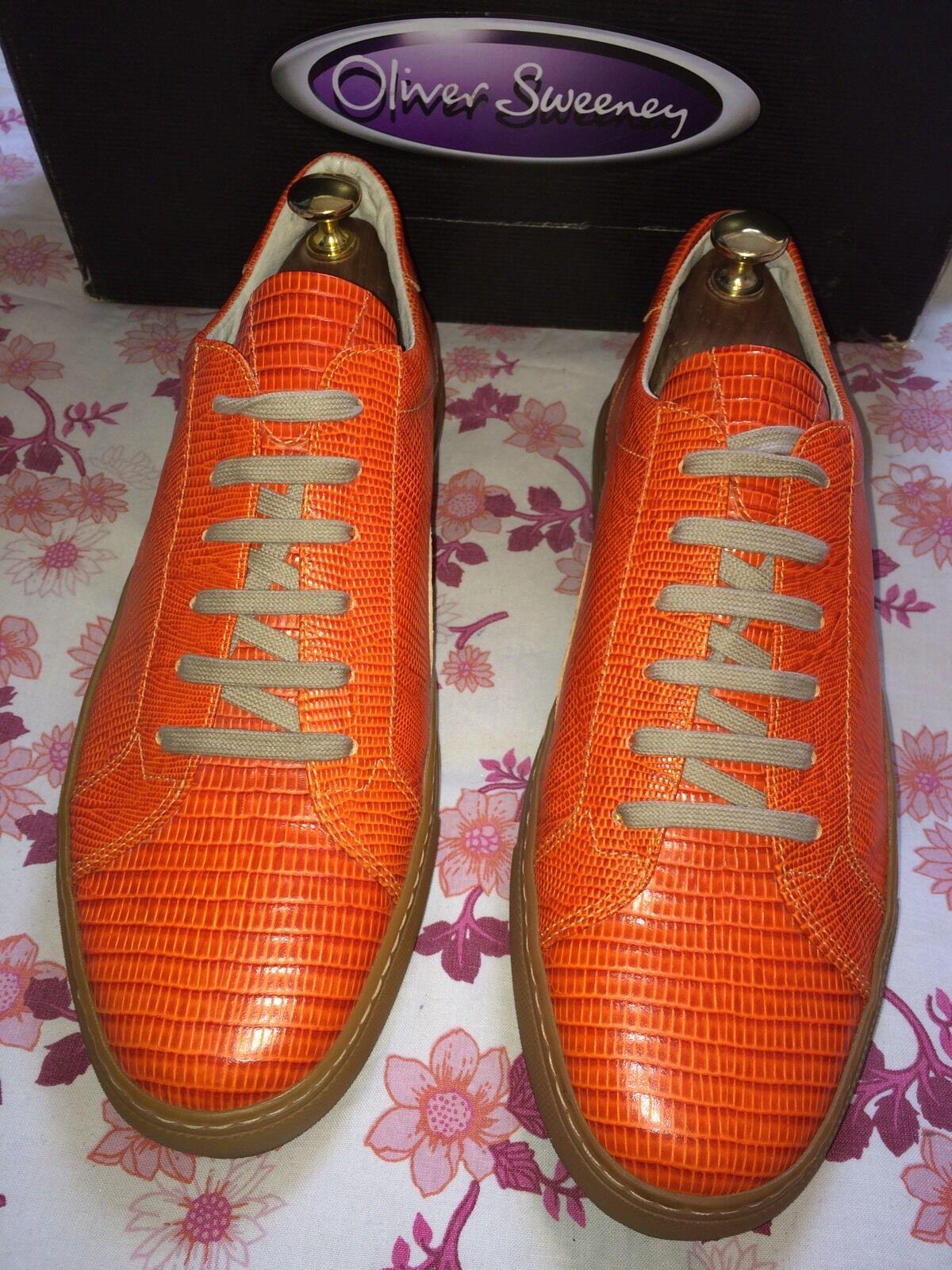 Oliver Sneaker Sweeney Allen Coccodrillo Pelle Sneaker Oliver Scarpa Taglia MADE IN ITALY prezzo consigliato b4b63e