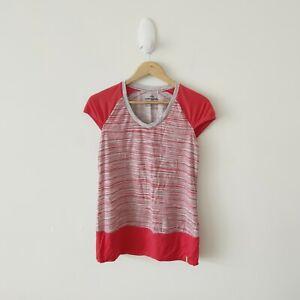 Kathmandu-MerinoLink-Women-039-s-Red-Striped-T-Shirt-Size-10
