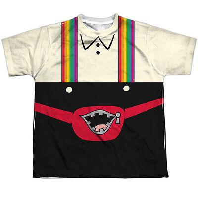 PIZZA COSTUME Kids Front Print Tee Shirt SM-XL BOYS SZ 6-20 Halloween