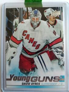 DAVID-AYRES-SP-YOUNG-GUNS-RC-2019-20-UD-SP-AUTHENTIC-ROOKIE-CARD-HURRICANES