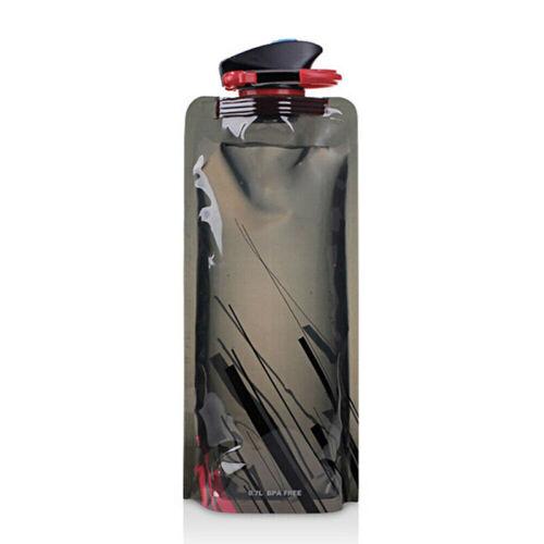 700ML-Outdoor Viaje Bebida Agua Botella Acampada Plegable Plegable Bolsa