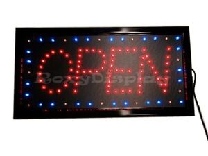 Big-Bright-LED-OPEN-SIGN-Red-amp-Blue-Flash-AC-OP3