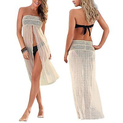 Sexy Women Bikini Cover Up Hollow Crochet Swim Suit Swimwear Bathing Beach Dress