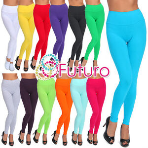 Full-Length-High-Waist-Leggings-Genuine-Cotton-and-Lycra-All-Sizes-amp-Color-LWPY