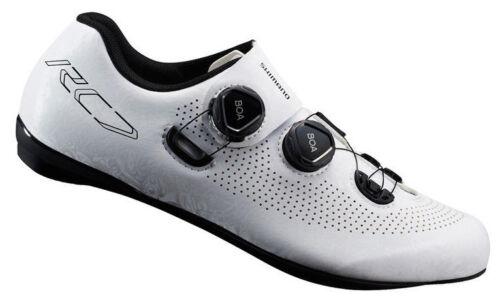 Shimano RC7 Kohlenstoff Straße Fahrrad Schuhe SH-RC701 Weiß - 42 (Us 8.3)