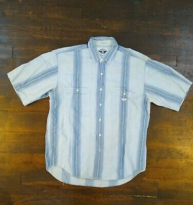 Vintage 1990\u2019s Dockers Muted Earth Tone Paisley Pattern Print Short Sleeve Button Up Shirt Size Medium