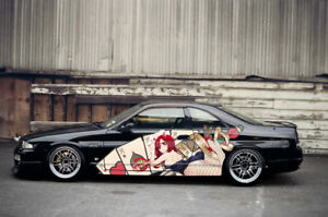 Anime Date A Live Car Side Wrap Color Vinyl Sticker Decal Fit Any Car
