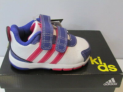 UK SIZE CRIBS 3 ADIDAS SNICE 3 CF CRIBS TRAINERS - WHITE / PINK / PURPLE