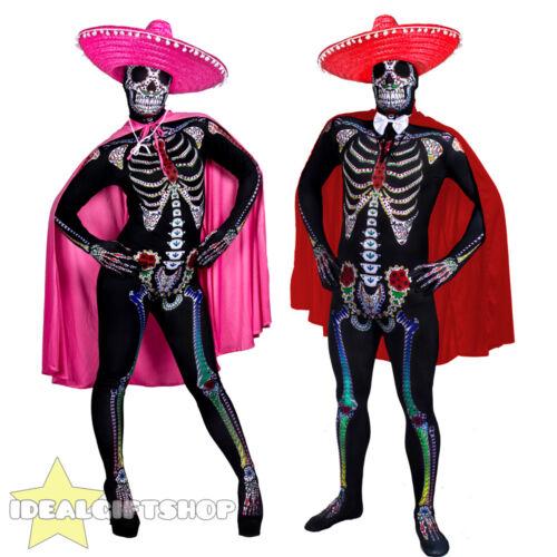 COPPIE giorno dei morti Senor SENORITA Skeleton pelle tuta Halloween Fancy Dress