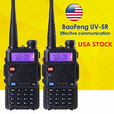 2 PCS BaoFeng UV-5R VHF&UHF Dual-Band DTMF FM ham 2 way 5R radio Ship From US