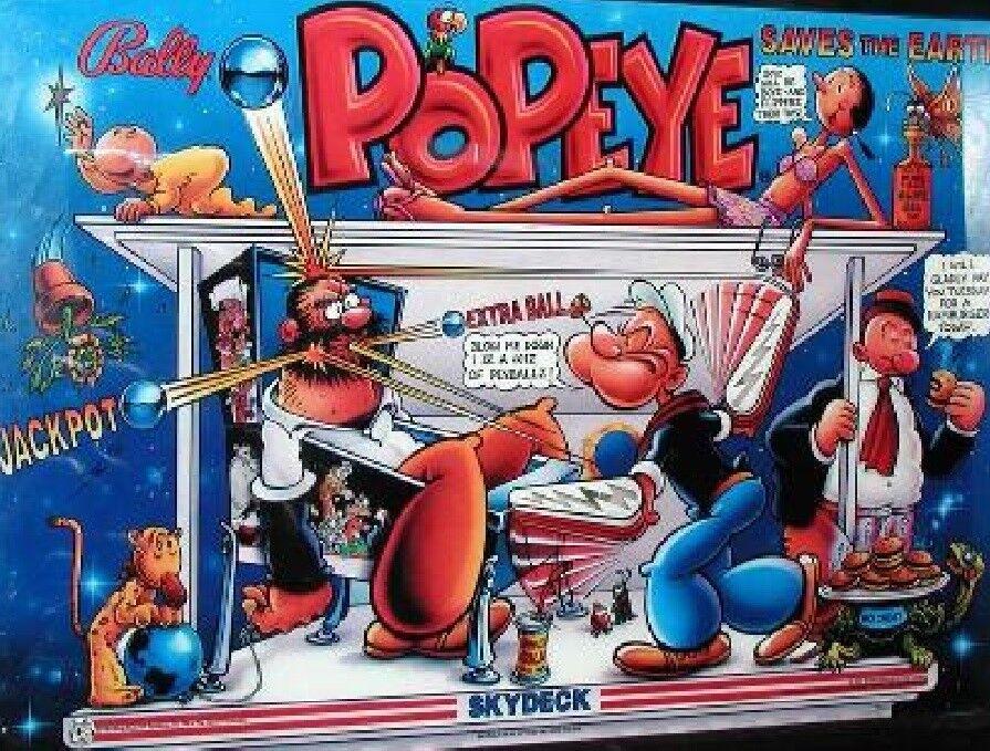 Popeye complete led lighting kit custom super gloss pinball led kit