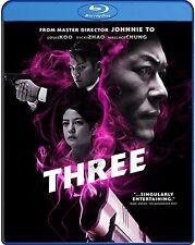 Three (Blu-ray) Johnnie To/Louis Koo/Vicki Zhao/Wallace Chung BRAND NEW
