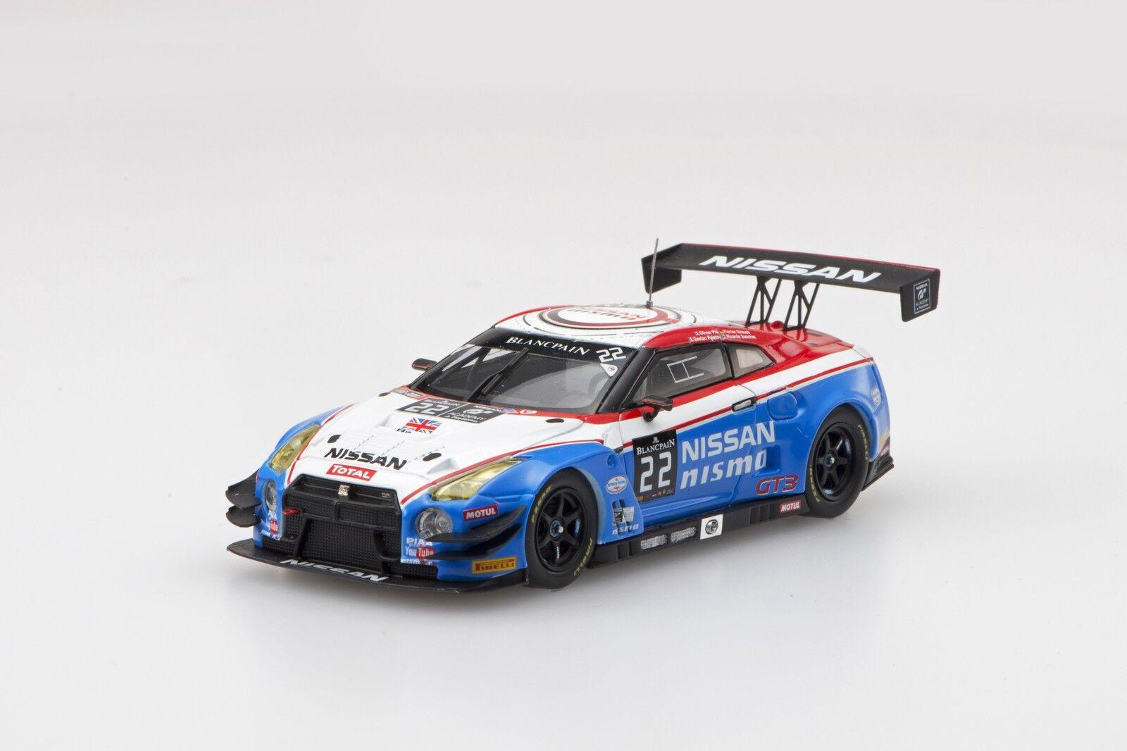 EBBRO 45482 1 43 Nissan GT-R Nismo GT 3 whitepain Endurance 2015 22 White bluee