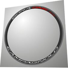CAMPAGNOLO BORA ONE 35 WHITE-RED 3D DESIGN REPLACEMENT RIM DECAL SET FOR 2 RIMS
