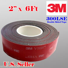 """3M 2"""" x  6 FT VHB Double Sided Foam Adhesive Tape 5952 Automotive Mounting 50mm"""