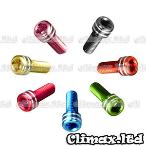 2Pcs Bike Water Bottle Cage Bolts M5*15MM Aluminium Alloy Hex Tapping Screws ca
