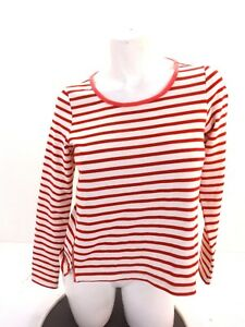 URBAN-OUTFITTERS-WOMENS-RED-WHITE-STRIPED-CROP-TOP-SIZE-S-SUPER-CUTE