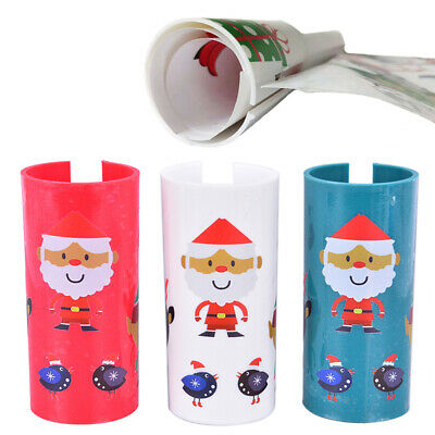 Christmas Sliding Wrapping Paper Cutter Gift Paper Cutting Tools Decoration O3