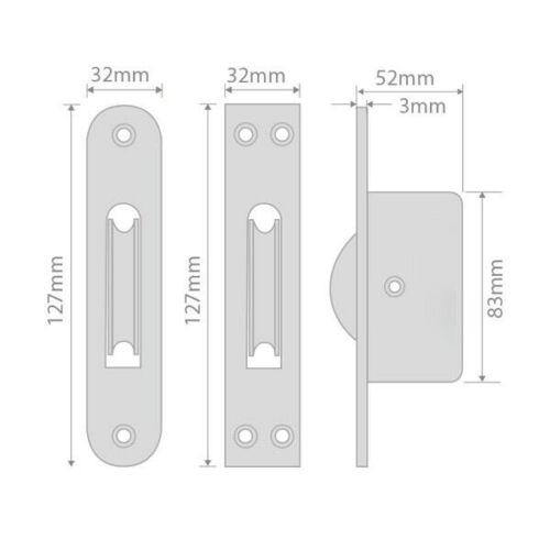 Square Sash Pulley for Chain Brass Sash Window