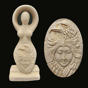 EAGLE-GODDESS-WICCAN-PAGAN-ALTAR-Gypsum-Statue-Figurine-12195