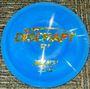 NEW DISCRAFT SWIRLY ESP HEAT DISC GOLF DRIVER BLUE / GOLD FLOWERS 173-4G LSDISCS