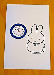 039-WITH-LOVE-FROM-MIFFY-039-POSTCARD-TELLING-THE-TIME-WITH-MIFFY-2008-DICK-BRUNA