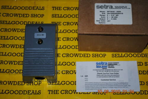 Setra DPT2640-005D Pressure Differential Sensor 2641005WD2DA1D 0-5.0 WC New
