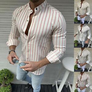 Men-Summer-Long-Sleeve-Striped-T-Shirt-Casual-Soft-Tops-Henley-Shirt-Blouse-Tee