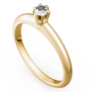 Antragsring - Verlobungsring - gold 585 yellowgold Brillant 0,08ct TW SI  - TOP