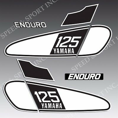 VINTAGE YAMAHA 76 1976 DT125 DT 125 TANK EXHAUST OIL TANK SIDE GRAPHICS  DECALS