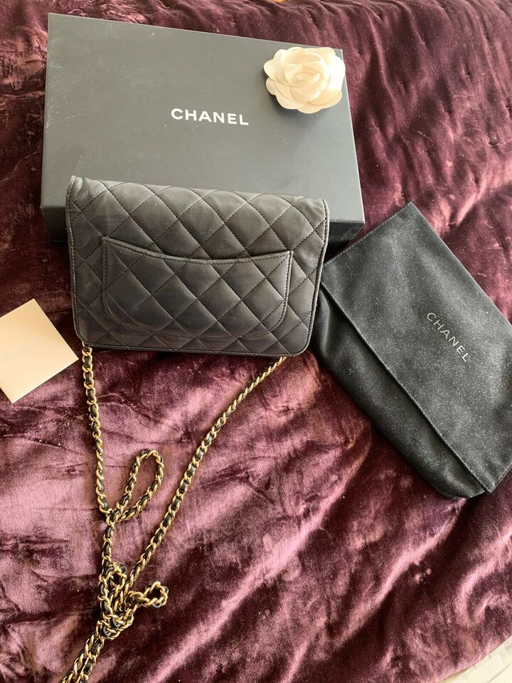 Crossbody, Chanel, lammeskind