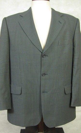 GORGEOUS Strellson Lightweight Wool Blau and grau Sport Coat 46L