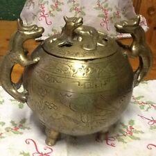 old brass incense burner