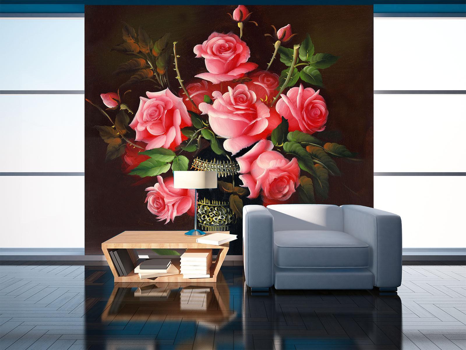 3D Pink pinks Vase 72 Wall Paper Murals Wall Print Wall Wallpaper Mural AU Kyra