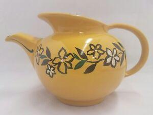 Vintage hall teapot windshield china mustard yellow flowers 0688 ebay image is loading vintage hall teapot windshield china mustard yellow flowers mightylinksfo