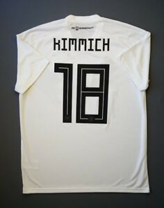 5+ 5 Germany  18 Kimmich 2018 Football Soccer Home Jersey Shirt Size ... 3ae5729ad