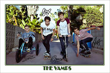 * THE VAMPS * LARGE SIGNED POSTER PHOTO PRINT OF THE BRITISH POP BAND