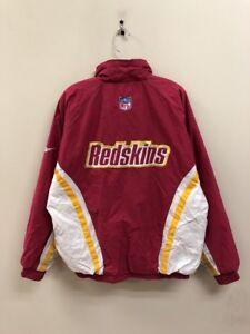 6c8567583 Vtg Reebok Washington Redskins NFL Pro Line Light Insulated Jacket ...
