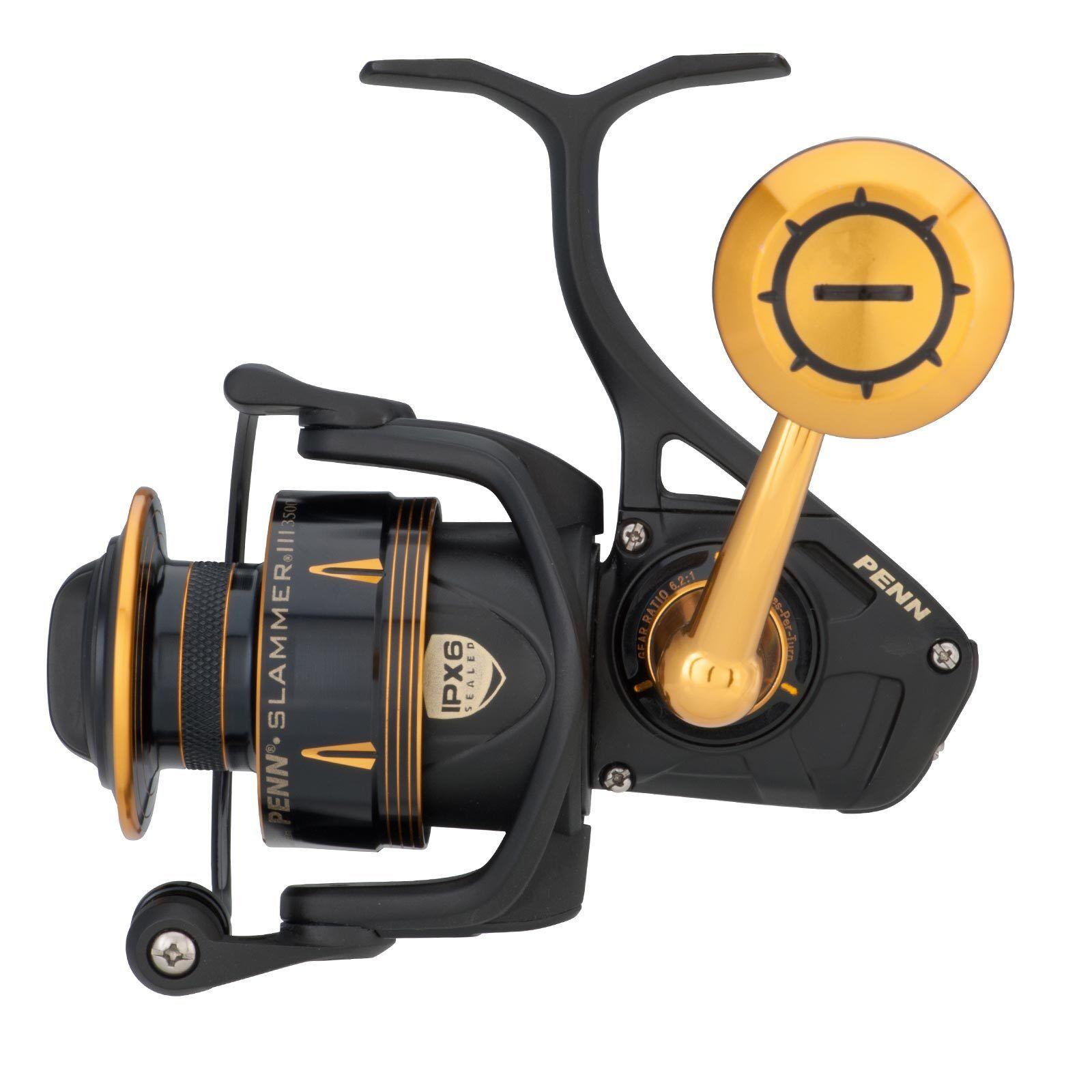Cocherete pesca pesca agua salada Cocherete - ha corregido Penn Slammer III 4500