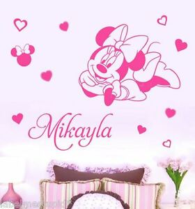 Image Is Loading XL Minnie Mouse Mickey Mouse Wall Sticker ANY