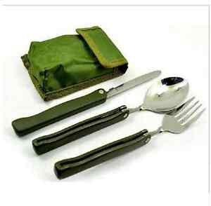 Motivated 4 In 1 Travel Camping Folding Tableware Opener Picnic Cutlery Fork Spoon Knife Campcookingsupplies